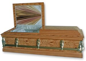 Barbadian Cream Flat Casket