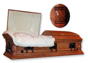 Canadian Oak Casket