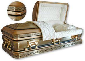 American Embossed Gold Casket