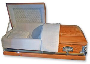 Cream Barbadian Oval Top Casket